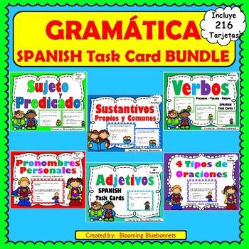 Gramática: Sujeto y Predicado-Sustantivos-Verbos- Adjetivos-Pronombres-BUNDLE