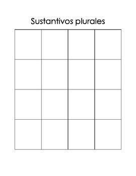 Sustantivos comunes y plurales