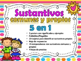 Sustantivos comunes y propios 5 en 1 - Proper Nouns and Common Nouns - Spanish