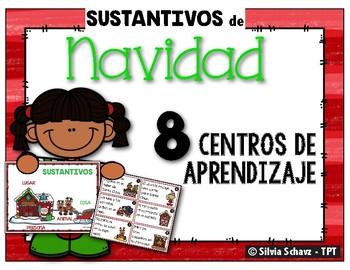 Sustantivos de Navidad: 8 centros de aprendizaje