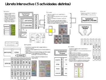 Sustantivos - libreta interactiva