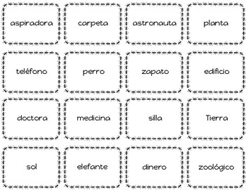 Sustantivos masculino y femenino