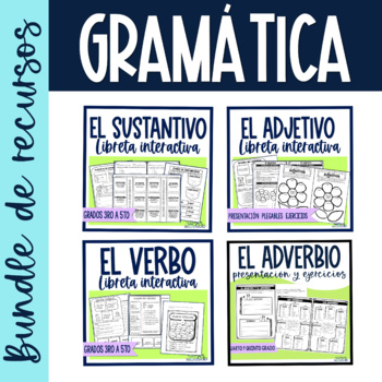 actividades adjetivos verbos sustantivos libreta interactiva