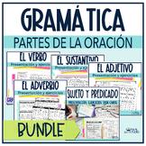 Sustantivos, verbos y adjetivos bundle/ Spanish grammar bundle