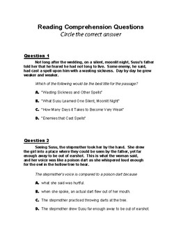 Susu and the Magic Mirror Short Story Unit Guide