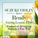 Suzuki Violin Group Class Lesson Plan Book 1: Easter Theme