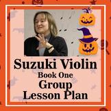 Suzuki Violin Group Lesson Plan Book One: Halloween Theme