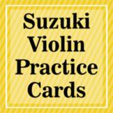 Suzuki Violin Practice Flash Cards