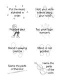 Suzuki Violin Pre-Twinkle Task Cards