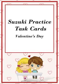 Suzuki Violin Valentine's Cards