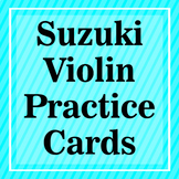 Suzuki Violin Practice Cards (Part 2)