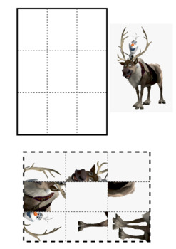 Sven and Olaf 9 Piece Puzzle
