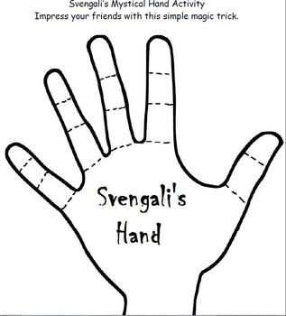 Svengali's Mystical Hand Science Activity. FREE!
