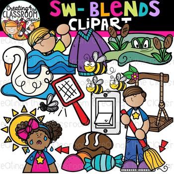 Sw- Blends Clipart {Beginning Blends Clipart}