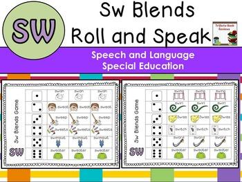 Sw Blends:  Roll and Speak Articulation Game