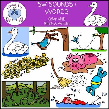 Sw Sounds / Words: Beginning Sounds Clip Art