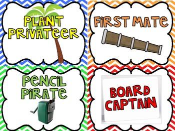 Swab the Decks!  Classroom Jobs for Pirates or Mateys
