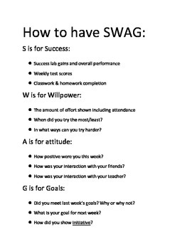 Swag Chats - Weekly Data Chats