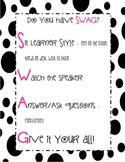 Swag Poster - Black Dots