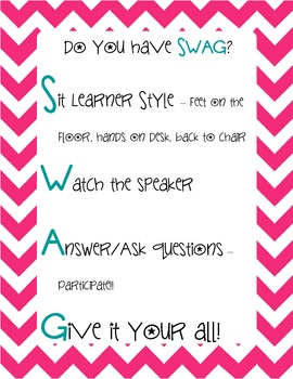 Swag Poster - Pink Chevron