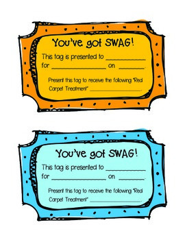 Swag Tags (Brag Tags)