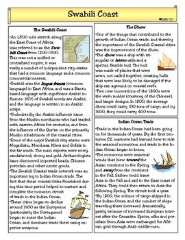 Swahili Coast Civilizations