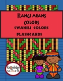 Swahili Colors Flashcards