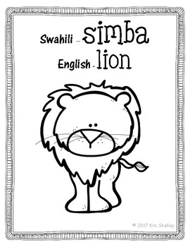 Swahili English Coloring Posters Freebie