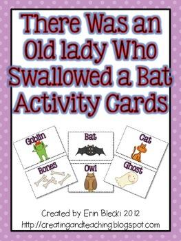 Swallowed a Bat Activity Cards