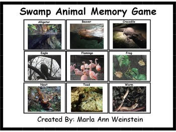 Swamp Animal Memory Game