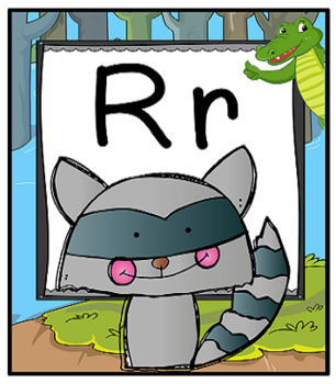 Alphabet Posters with Swamp Background and Alligators