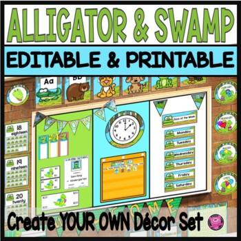 Swamps and Alligators Classroom Decor Editable