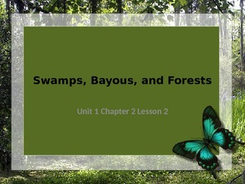 Swamps, Bayous, and Forests