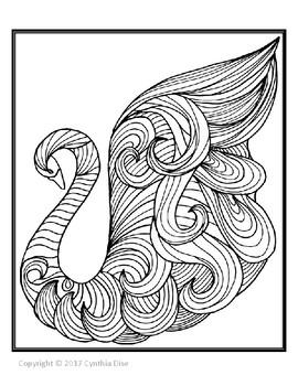 Swan Coloring Sheet