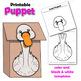 Swan Craft Activity   Paper Bag Puppet Template