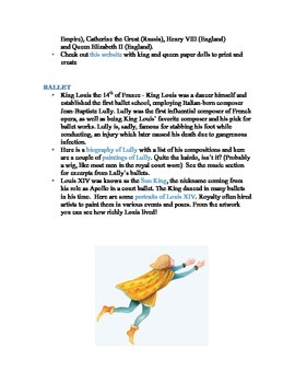 Swan Lake Curriculum Guide