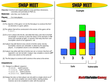 Swap Meet: Math Games Patterns