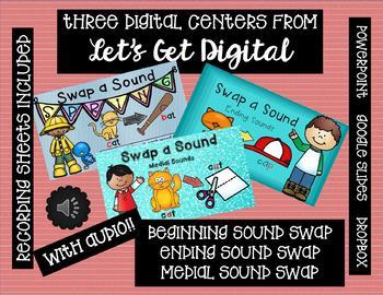 Swap a Sound - THREE INTERACTIVE DIGITAL TASK CARD CENTERS