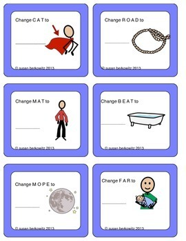 Swapping Sounds Task Cards for Changing and Making Words