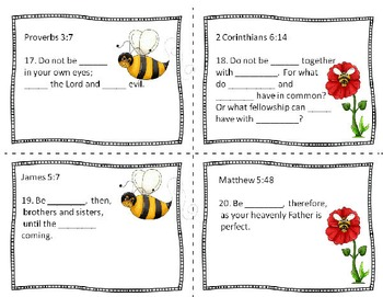 "Swarm of Scripture ""Bees"" - Bible Task Cards for Upper Elementary"