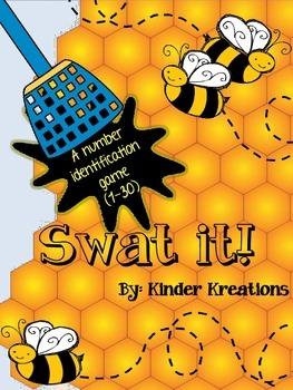 Kindergarten Number & Number Word Identification Game - Swat It!