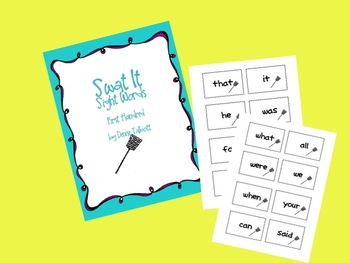 Fry Sight Words Set 1 Swat It Game