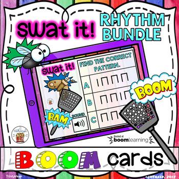 Swat It (Swat the Bug) Boom Digital Task Cards - Rhythm Bundle