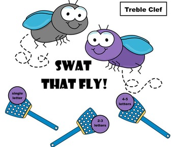 Swat That Fly Treble Clef Note Naming Game