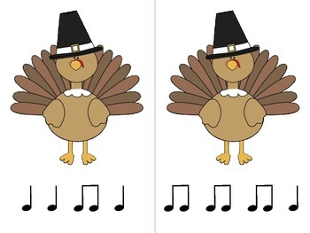 Swat Those Turkeys!  A game for practicing ta ti-ti