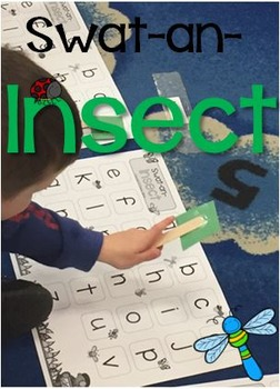 Swat-an-Insect Letter Recognition Recording Sheet