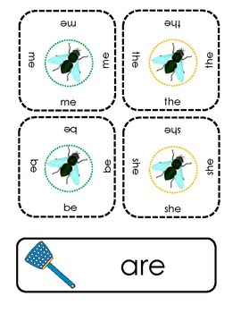 Swat it! Sight word reading game