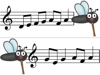 Swat that Fly! A Music Reading Game for the Recorder: patterns that contain F