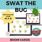 Swat the Bug Articulation BOOM cards: Bilabial Bundle (m,p,b)