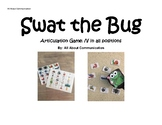Swat the Bug Articulation Game for /l/